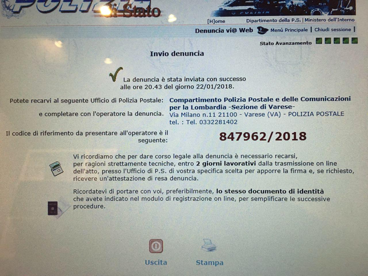 Denuncia di AssoCareNews.it alla Polizia Postale.