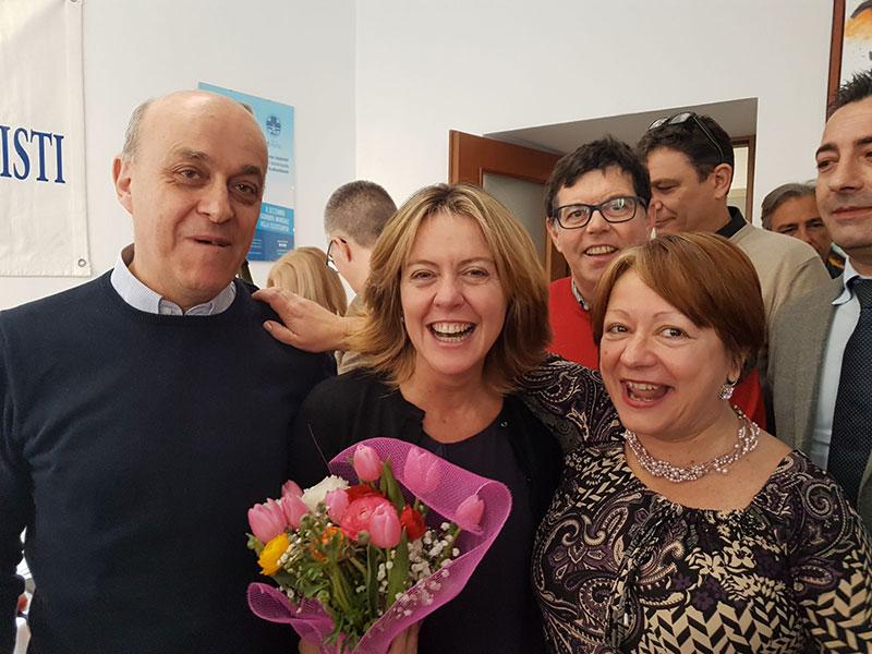 Angelo Mastrillo, autore del servizio, in compagnia del Ministro della Salute Beatrice Lorenzin.
