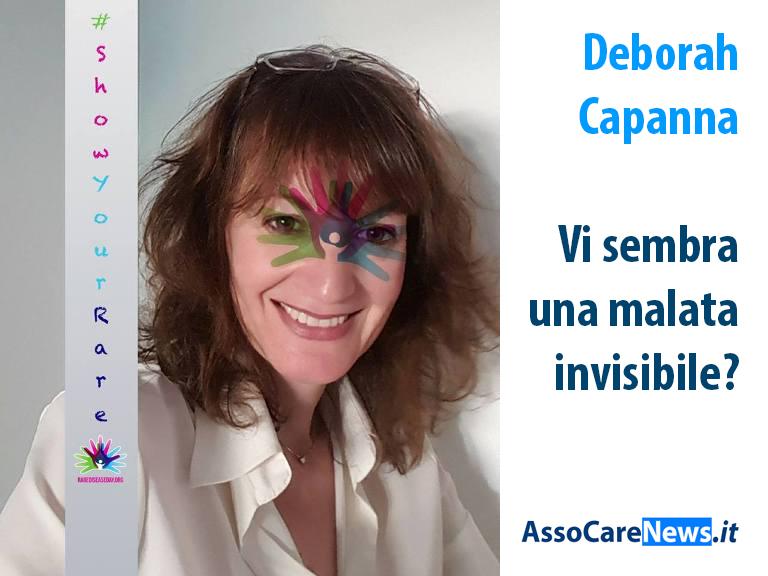 Deborah Capanna, leader dei Malati Invisibili in Italia.