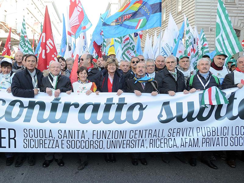 Cigil, Cisl e Uil si schierano contro lo sciopero generale degli Infermieri Italiani del 23 febbraio 2018.
