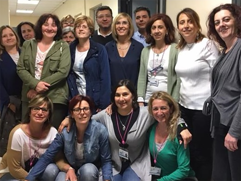 Il team di professionisti del servizio di vulnologia ASL 3 Liguria