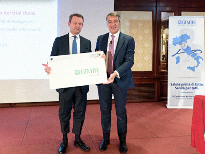 Il vicepresidente di Assogenerici, dott. Alberto Giraudi, e il presidente della Fondazione GIMBE, dott. Nino Cartabellotta.