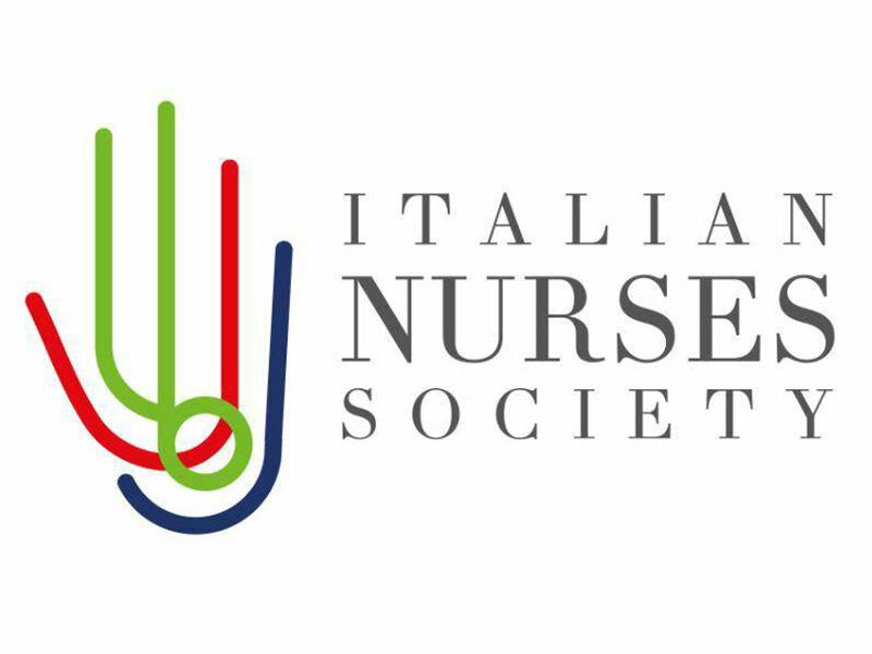 Il logo dell'Italian Nurse Society fondato da Luigi D'Onofrio e da altri colleghi italiani in Inghilterra.