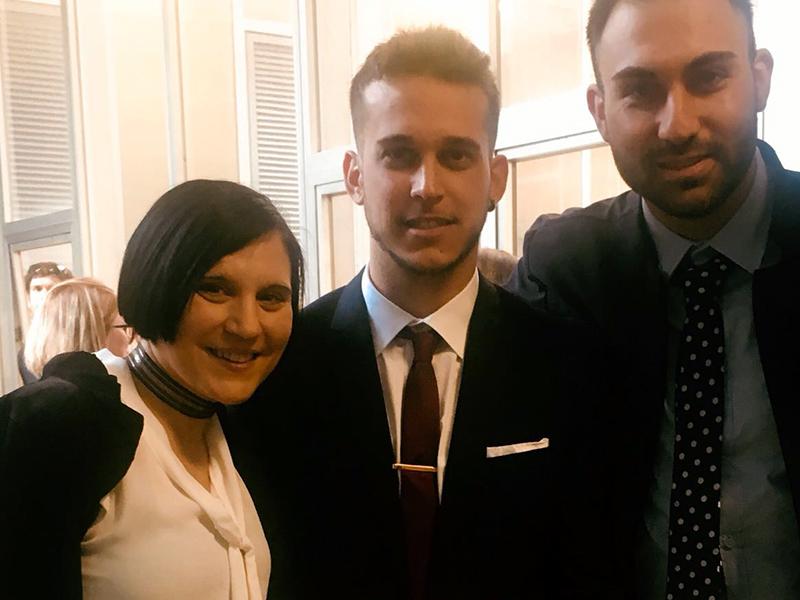 Giuseppe Terramagna con la collega e co-relatrice Federica Putzu.