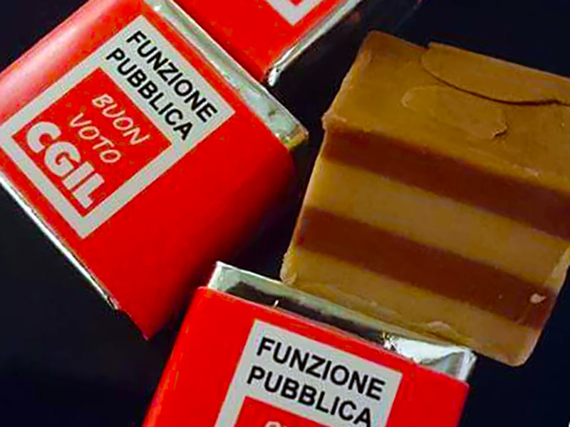 Il cioccolatino della Cgil Funzione Pubblica: un cremino in cambio di un voto per le RSU 2018!