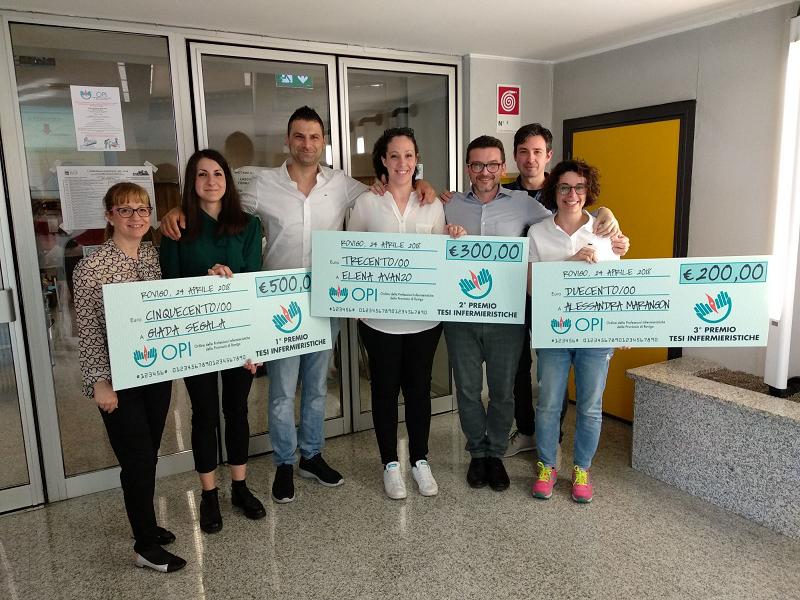 I tre vincitori del premio dell'OPI di Rovigo