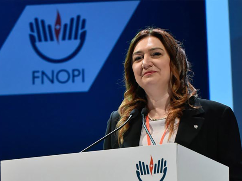 Barbara Mangiacavalli, presidente dell'Ordine degli Infermieri.