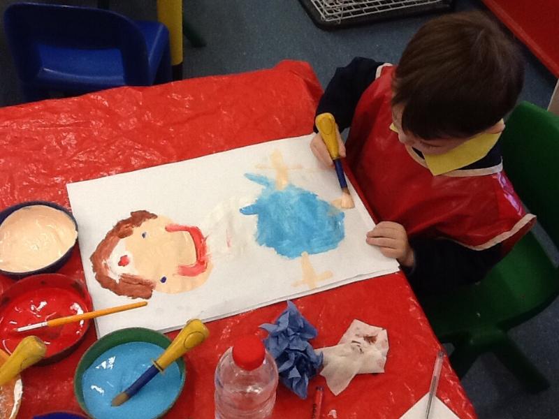 Bambino disegna la mamma infermiera!