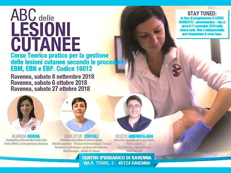 Da non perdere - Lesioni Cutanee: corso gratuito a Ravenna sul corretto trattamento delle LDD.