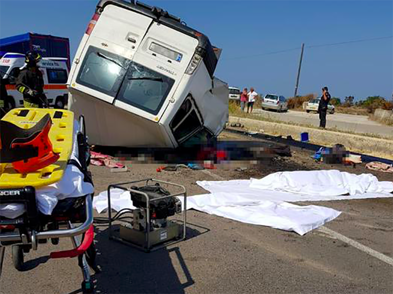Grave incidente sul Gargano: 12 morti e 3 feriti.