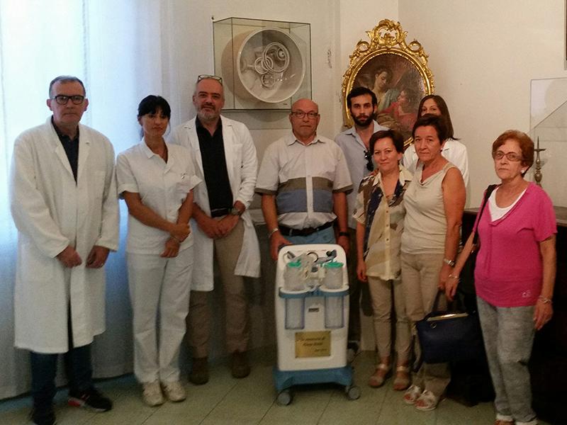 Faenza: donato aspiratore all'Oncologia di Faenza