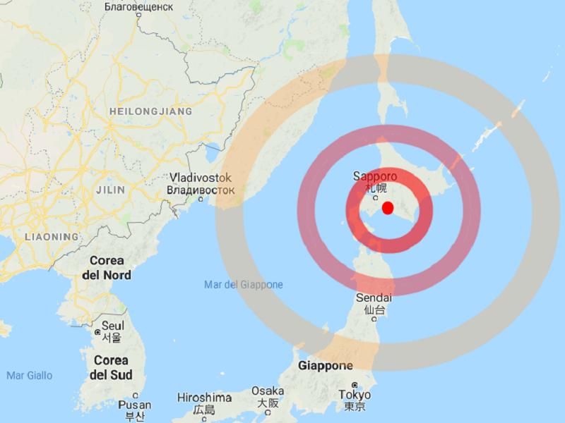 Forte sisma in Giappone: 6,7 magnitudo!