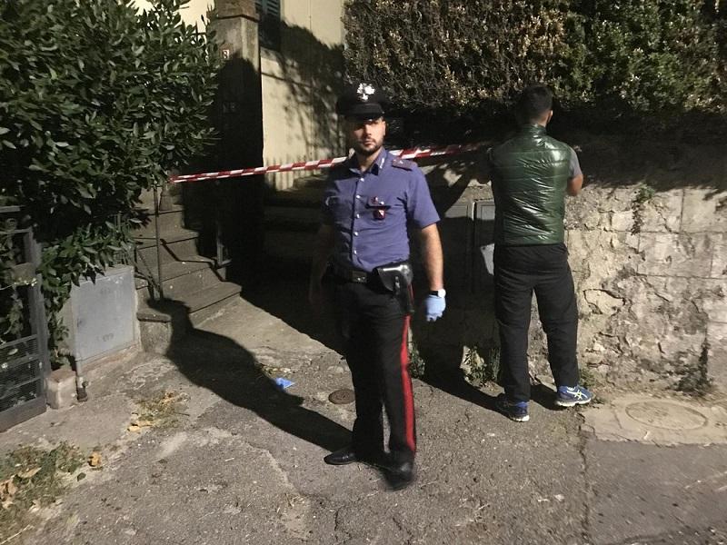 L'ingresso della casa di Scarperia (FI)