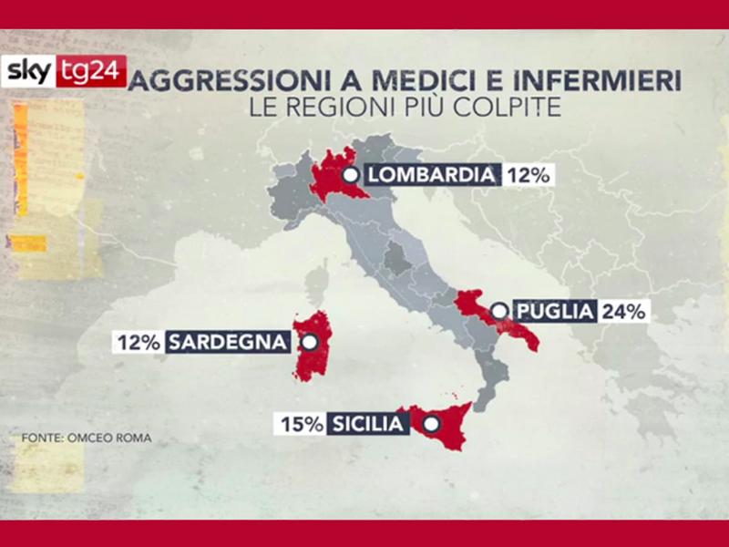 Violenza Infermieri, Medici e Operatori sanitari: speciale Sky TG 24.