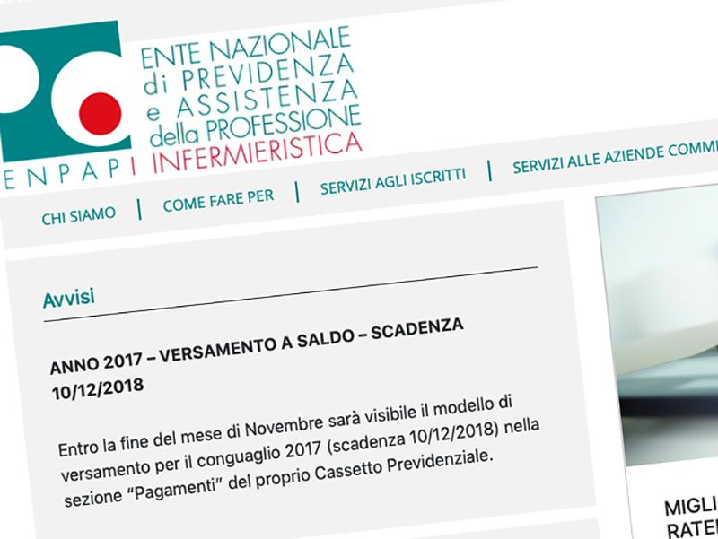ENPAPI: nuovo sito web per cassa previdenziale Infermieri Liberi Professionisti.