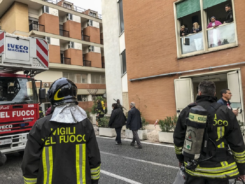 Fiamme alte in ospedale