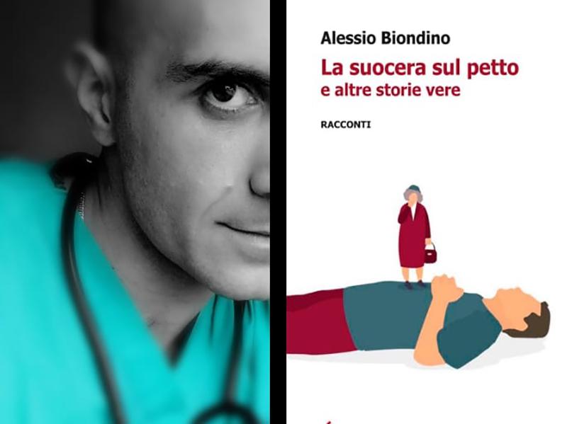 Alessio Biondino con il suo nuovo libro.