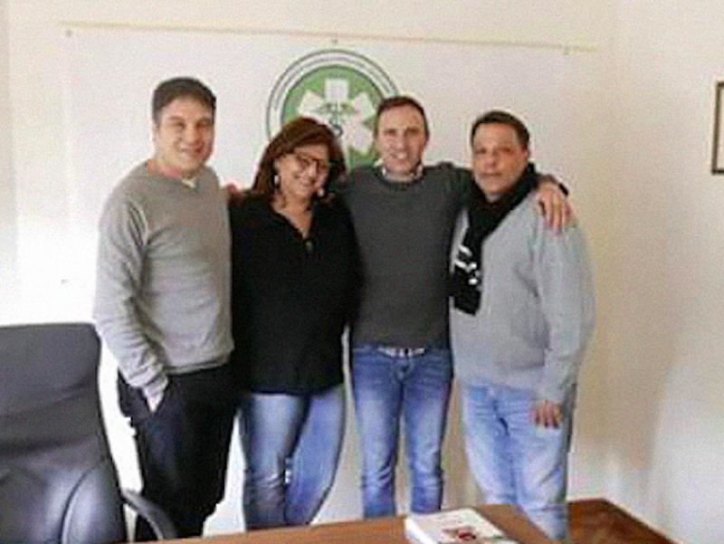 Nella foto: da sinistra a destra Pasquale Contursi, Stella Mele, Carmelo D'Antona e Nunzio Perrella.
