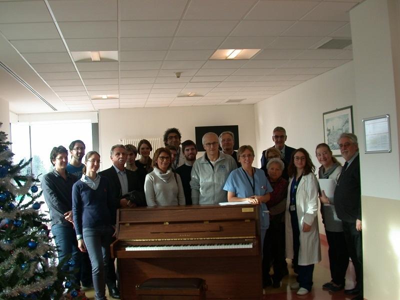 Oncologia: donato un pianoforte al reparto degenze di Udine!