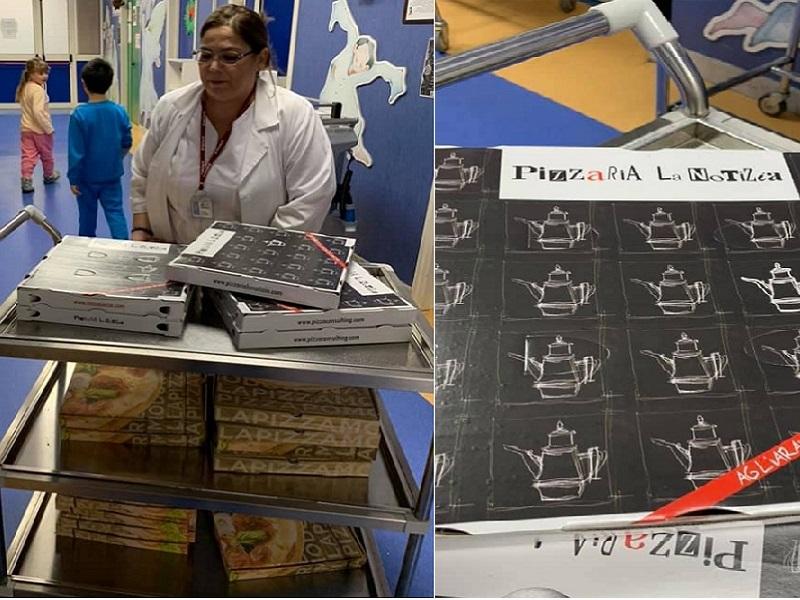 Le pizze generosamente donate, arrivano in corsia!