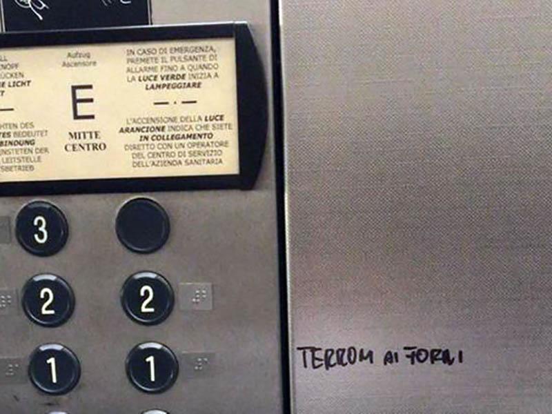 Infermieri e OSS terroni nei forni crematori: scritta offensiva nei confronti di operatori del Sud!