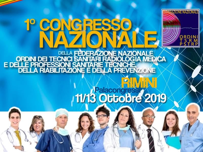 Professioni Sanitarie: primo congresso TSRM PSTRP al Palacongressi di Rimini.