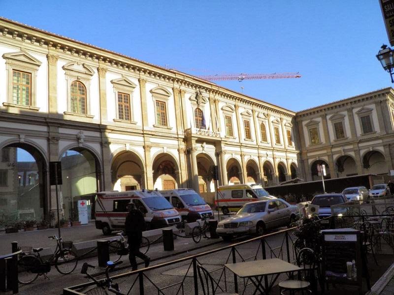 Ospedale di Santa Maria Nuova: i sistemi di sicurezza hanno permesso l'isolamento dell'uomo