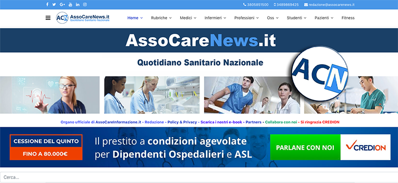 Il quotidiano sanitario nazionale AssoCareNews.it.
