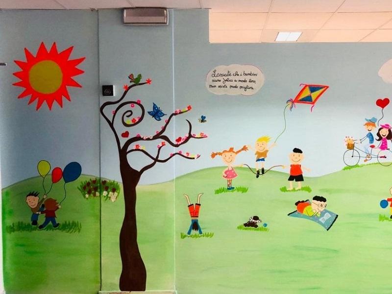 Murales dipinti nella pediatria di Bari!