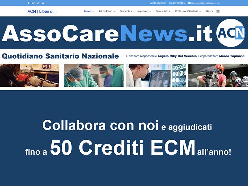 Diventa collaboratore di AssoCareNews.it e aggiudicati fino a 50 Crediti ECM annui!