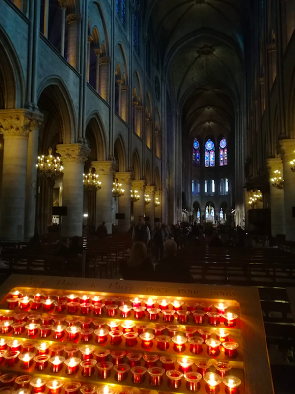 Notre Dame vista dall'interno prima dell'incendio (Foto di Giulia De Francesco).