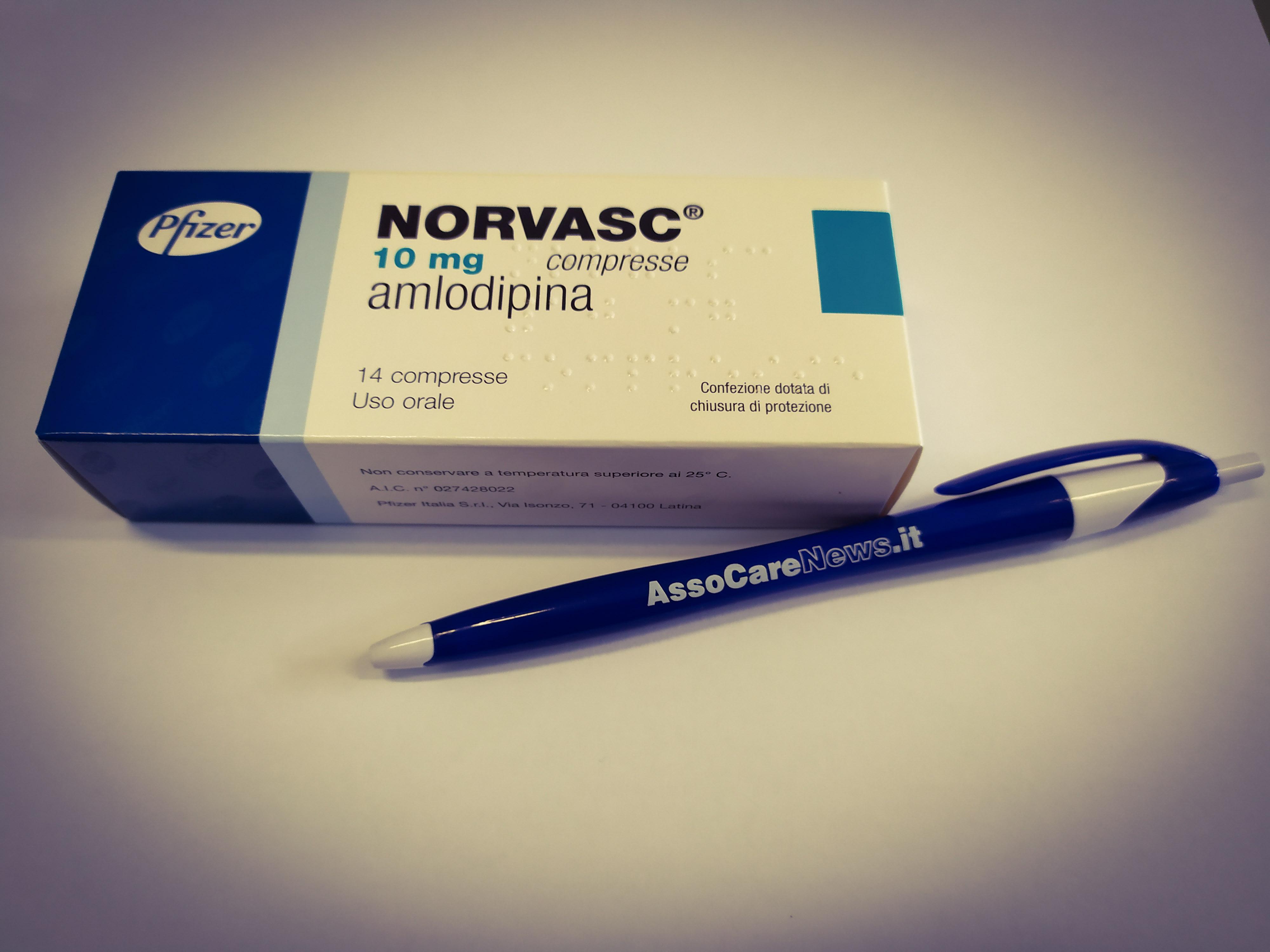 Norvasc: tutto sull'Amlodipina e sulle sue funzioni e complicanze.