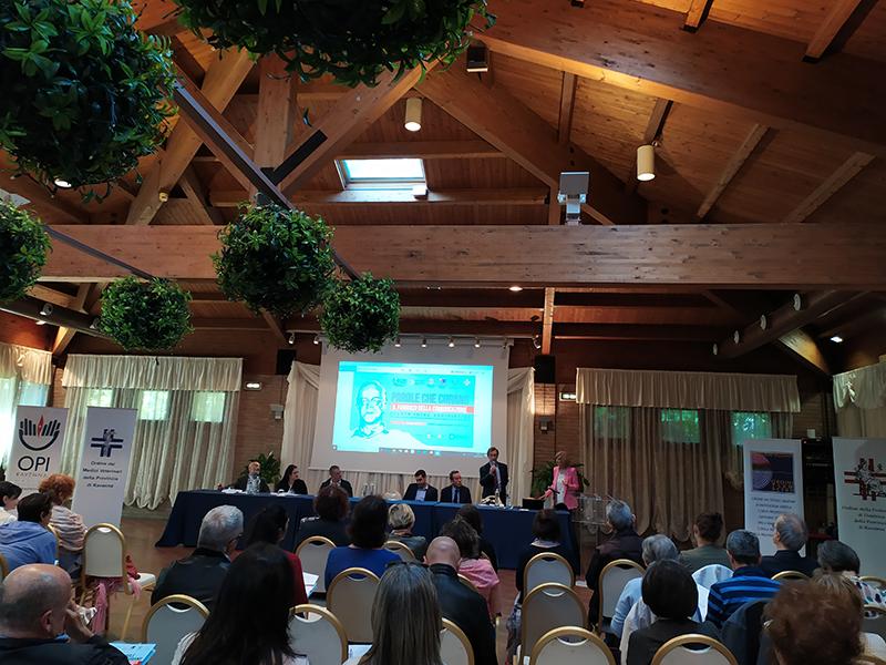 La presentazione dell'evento da parte della Presidente dell'OPI di Ravenna Paola Suprani.