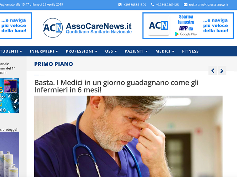 Quotidiano Sanitario AssoCareNews.it: pronto nuovo portale, presto on line!