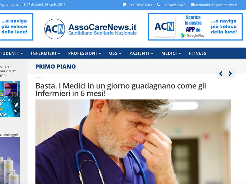 Quotidiano Sanitario AssoCareNews.it: pronto nuovo portale, presto on line!