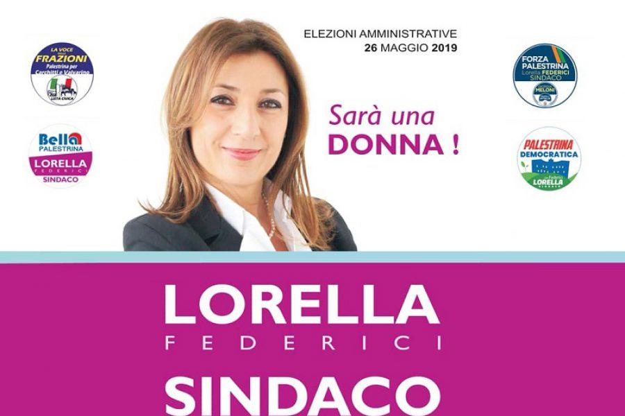Lorella Federici: la persona giusta per Palestrina!