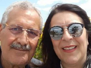 Il dott. Del Mastro con la moglie Angela Tancredi, che non è iscritta ad alcun Ordine infermieristico.