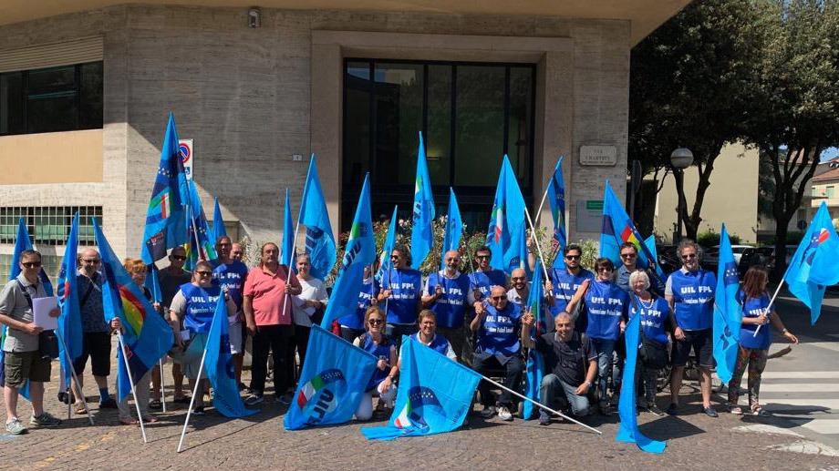 Infermieri, Professionisti Sanitari e OSS: protestano contro Ausl Romagna. Presidio UIL-Fpl.