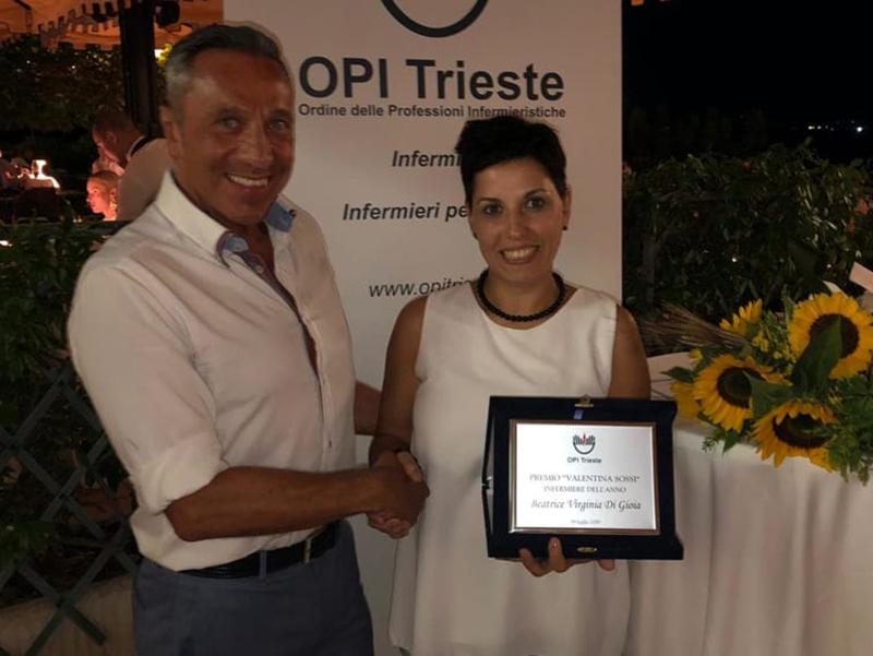Beatrice Virginia Di Gioia è l'Infermiere dell'anno. Vince il Premio Sossi 2019.