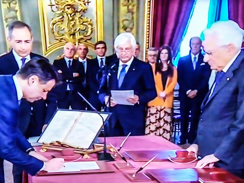 Nasce governo Movimento 5 Stelle – PD. Conte e i suoi ministri giurano fedeltà agli Italiani.