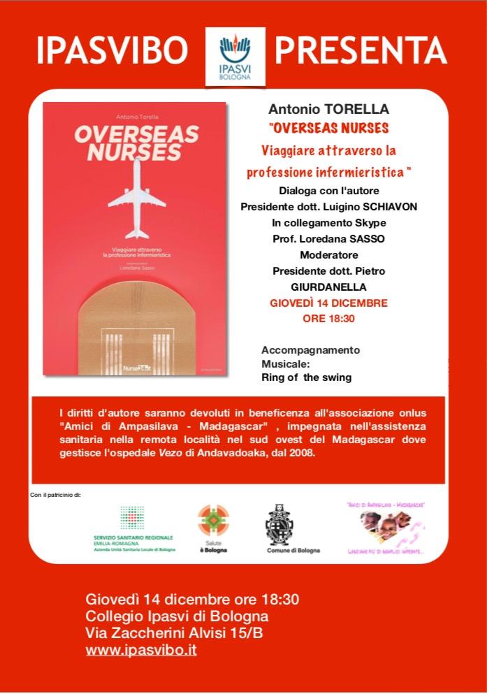 La locandina dell'evento organizzato da IPASVIBO nel 2017 in occasione della presentazione del volume di Antonio Torella.
