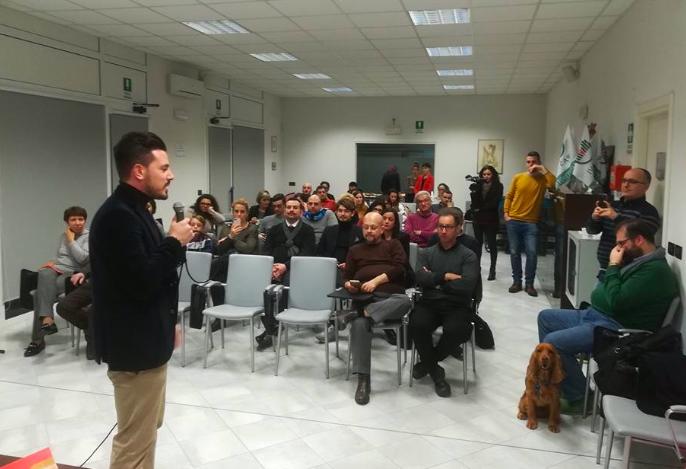 Torella alla presentazione del suo volume presso l'OPI di Bologna. In sala ciò che restava del movimento politico Noi Siamo Pronti e inviati di Nurse24.it.