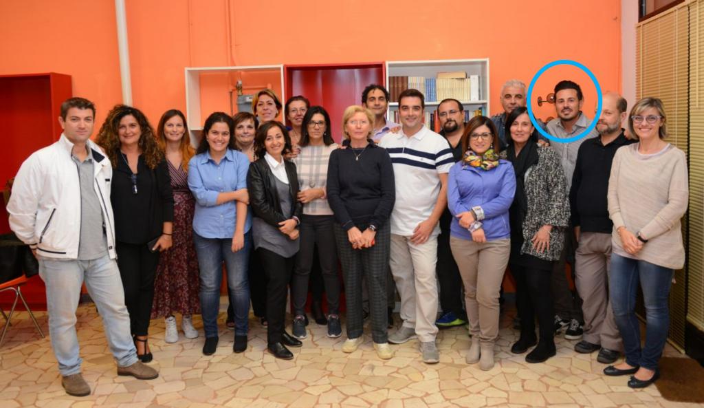 Nel cerchio celeste il revisore dei conti dell'OPI di Bologna Antonio Torella assieme a tutti i componenti dell'Ordine delle Professioni Infermieristiche bolognesi.