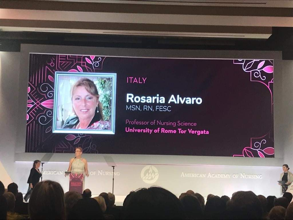 "Rosaria Alvaro diventa ""fellow"" dell'American Academy of Nursing."