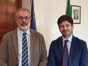 Alessandro Beux con il Ministro Roberto Speranza dopo il recente incontro a Roma per discutere di Super-Ordine.