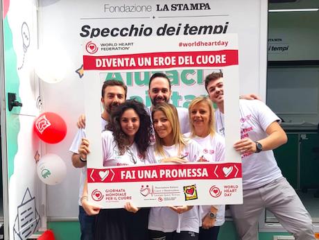 I giovani infermieri di Opi Torino in prima fila nella Giornata mondiale del cuore.