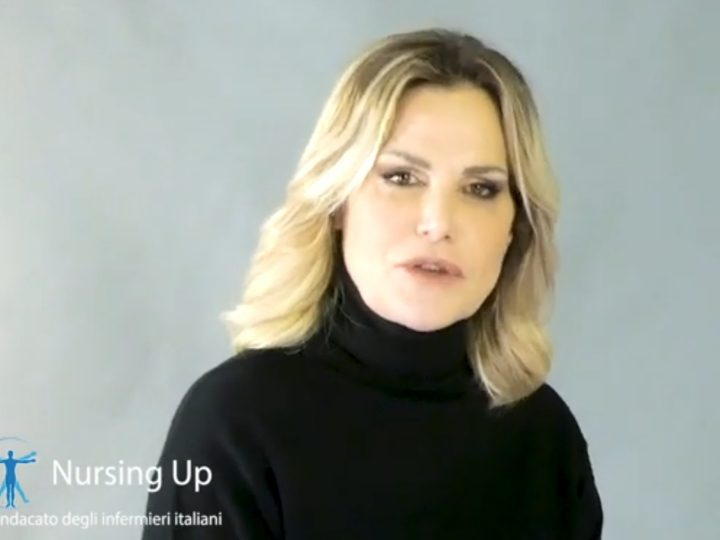 Simona Ventura in difesa degli Infermieri. Campagna Nursing Up.