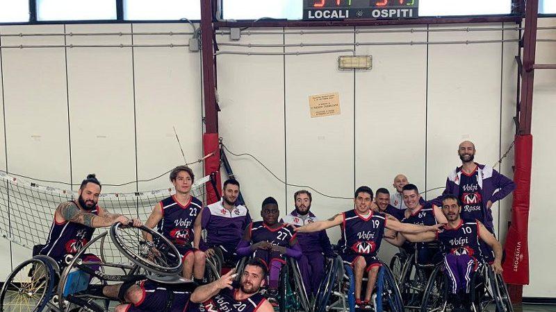 Volpi Rosse Menarini vince anche contro ASDO Disabili Don Orione.