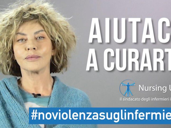 Eva Grimaldi dice no alla violenza contro gli Infermieri. Iniziativa di Nursing Up.