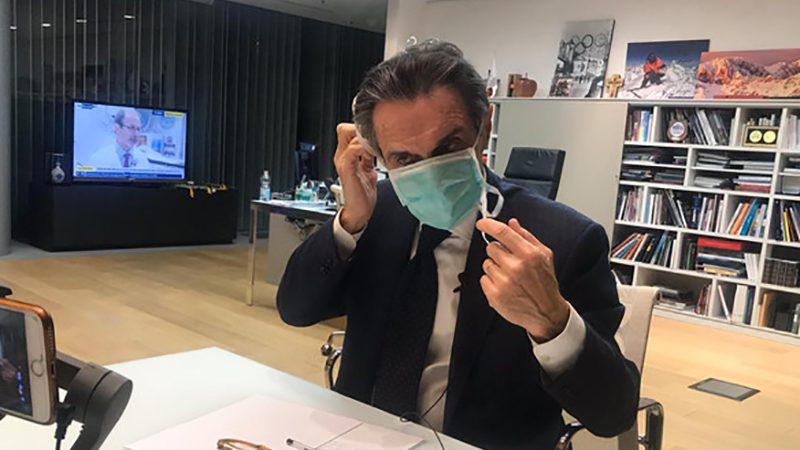 Coronavirus: anche il Governatore della Lombardia in quarantena. Potrebbe essere stato infettato.